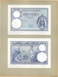 20 Francs ALGERIA  1924 P.78p UNC