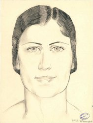 Portrait femme BASEILIA Dessin FRANCE regionalism and miscellaneous  1940