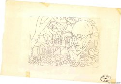 50c + 10c André Gide Dessin FRANCE regionalism and miscellaneous  1969