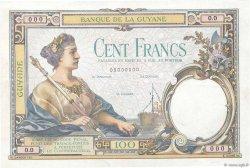 100 Francs type 1927 FRENCH GUIANA  1927 P.08s XF