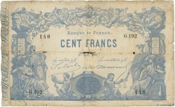 100 Francs type 1862 Indices Noirs FRANCE  1869 F.A39.04 B