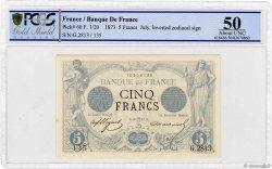 5 Francs NOIR FRANCE  1873 F.01.20 aXF