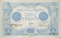 5 Francs BLEU lion inversé FRANCE  1916 F.02bis.04 VF