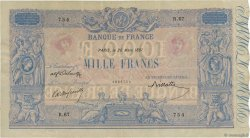 1000 Francs BLEU ET ROSE FRANCE  1891 F.36.03 aXF