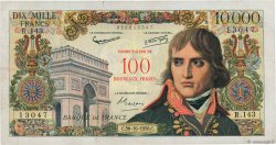 100 NF sur 10000 Francs BONAPARTE FRANCE  1958 F.55.01 F+