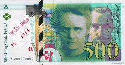 500 Francs PIERRE ET MARIE CURIE FRANCE  1994 F.76.00s1 pr.NEUF
