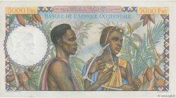 5000 Francs FRENCH WEST AFRICA  1950 P.43 AU+