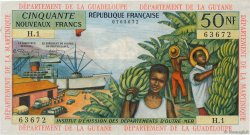 50 Nouveaux Francs FRENCH WEST INDIES  1962 P.06a VF