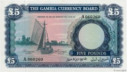 5 Pounds GAMBIA  1965 P.03a UNC-