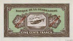 500 Francs GUADELOUPE  1945 P.25s UNC