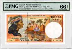 10000 Francs POLYNESIA, FRENCH OVERSEAS TERRITORIES  1990 P.04g UNC