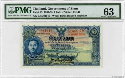 1 Baht Thailand 1935 P 022 4140370 Banknotes