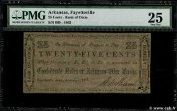 25 Cents  UNITED STATES OF AMERICA Fayetteville 1862  VF-