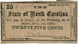 25 Cents  UNITED STATES OF AMERICA Raleigh 1861 PS.2324 F