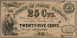 25 Cents  UNITED STATES OF AMERICA Raleigh 1863 PS.2362a AU