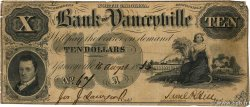 10 Dollars  UNITED STATES OF AMERICA Yanceyville 1853  F
