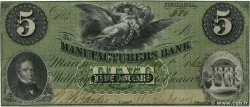 5 Dollars UNITED STATES OF AMERICA Macon 1862  F+