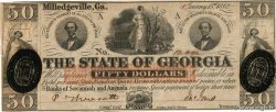 50 Dollars UNITED STATES OF AMERICA Milledgeville 1862 PS.0855 XF