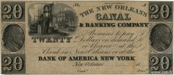 20 Dollars Non émis UNITED STATES OF AMERICA New Orleans 1850  UNC-