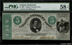 5 Dollars UNITED STATES OF AMERICA Richmond 1862 PS.3682 AU