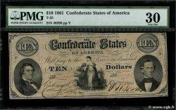 10 Dollars ÉTATS CONFÉDÉRÉS DAMÉRIQUE  1861 P.24 TTB