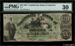 20 Dollars CONFEDERATE STATES OF AMERICA  1861 P.30 VF