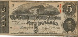 5 Dollars CONFEDERATE STATES OF AMERICA  1863 P.59b VF