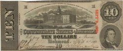 10 Dollars CONFEDERATE STATES OF AMERICA  1863 P.60a XF+