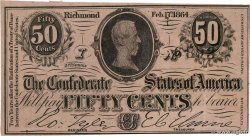 50 Cents CONFEDERATE STATES OF AMERICA  1864 P.64b XF+