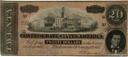 20 Dollars  CONFEDERATE STATES OF AMERICA  1864 P.69 VF