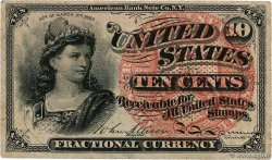 10 Cents UNITED STATES OF AMERICA  1863 P.115 VF