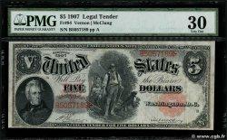 5 Dollars ÉTATS-UNIS DAMÉRIQUE  1907 P.186 TTB