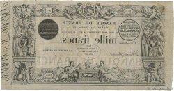 1000 Francs type 1842 définitif FRANCIA  1851 F.A18.10 MBC