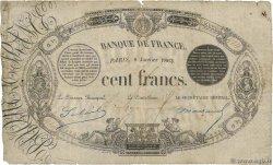 100 Francs type 1848 définitif, à litalique II FRANCE  1863 F.A27.03 B+