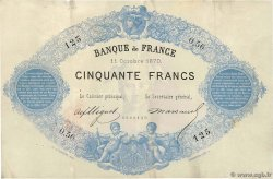 50 Francs type 1868 Indices Noirs FRANCE  1870 F.A38.04 TTB