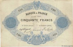 50 Francs type 1868 Indices Noirs FRANCIA  1882 F.A38.12 BC+