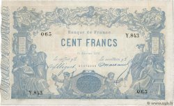 100 Francs type 1862 Indices Noirs  FRANCE  1875 F.A39.11 VF