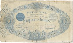 500 Francs type 1863 Indices Noirs FRANCE  1872 F.A40.05 pr.TB
