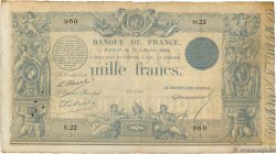 1000 Francs type 1862 Indices Noirs FRANCE  1868 F.A41.02 TB