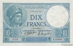 10 Francs MINERVE FRANCE  1926 F.06.10 SUP