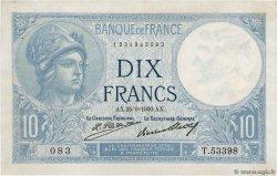 10 Francs MINERVE FRANCE  1930 F.06.14 XF
