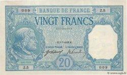 20 Francs BAYARD FRANCE  1916 F.11.01 XF