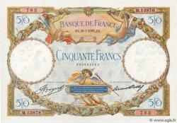 50 Francs LUC OLIVIER MERSON type modifié FRANCIA  1933 F.16.04 SPL