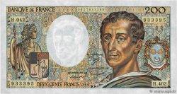 200 Francs MONTESQUIEU alphabet H.402 FRANCE  1986 F.70ter.01 pr.SPL