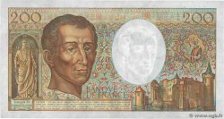 200 Francs MONTESQUIEU alphabet H.402 FRANCE  1986 F.70ter.01 AU-