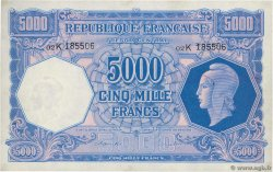 5000 Francs MARIANNE FRANCE  1945 VF.14.01 SPL