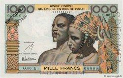 1000 Francs ÉTATS DE LAFRIQUE DE LOUEST  1961 P.503Es pr.NEUF