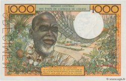 1000 Francs STATI AMERICANI AFRICANI  1961 P.503Es q.FDC