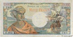 1000 Francs ALGÉRIE  1945 P.096 SUP
