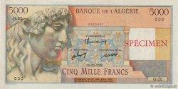 5000 Francs ALGÉRIE  1946 P.105s pr.NEUF